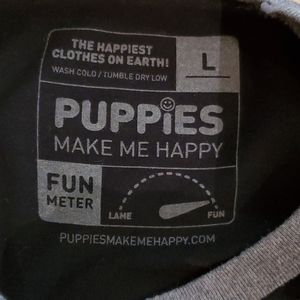 Puppies Make Me Happy Tops - Puppies Make Me Happy Yoga Tee, size Large